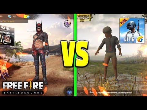 Free Fire Vs Pubg Mobile Lite Qual O Melhor Youtube