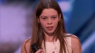 SHY Girl Sings Like a LION - Courtney Hadwin - Golden Buzzer Winning Performance