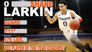 Official Highlights  2013 NBA Draft | Shane Larkin - Miami  | ACCDigitalNetwork