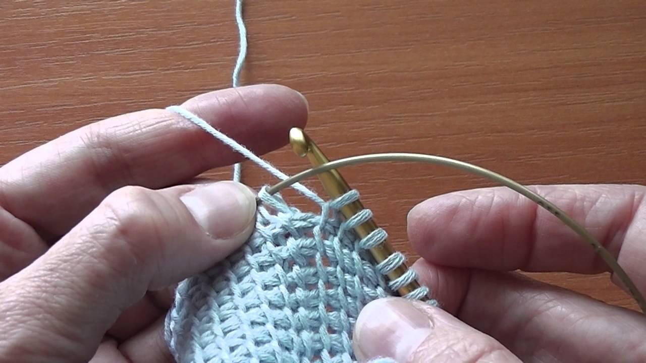 способы вязание круговых полотен длинными крючками мастер класс