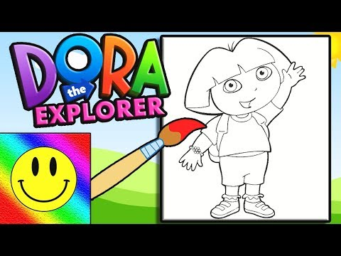Dora the Explorer Coloring | Draw & Coloring Page For Kids