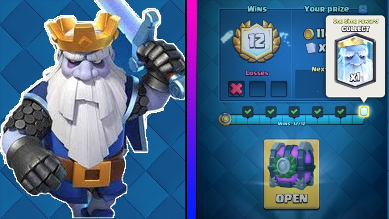 clash royale 12 wins royal ghost challenge