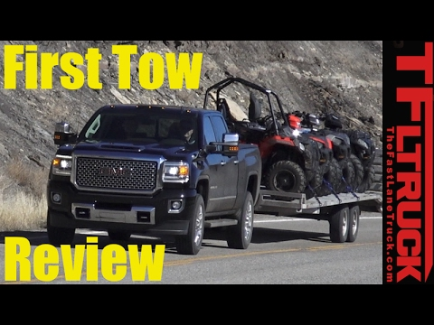 2017 GMC Sierra HD Denali First Tow Review: How Does The New Duramax Tow?