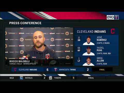 Indians beat Twins 6-2, pull even atop Central Division