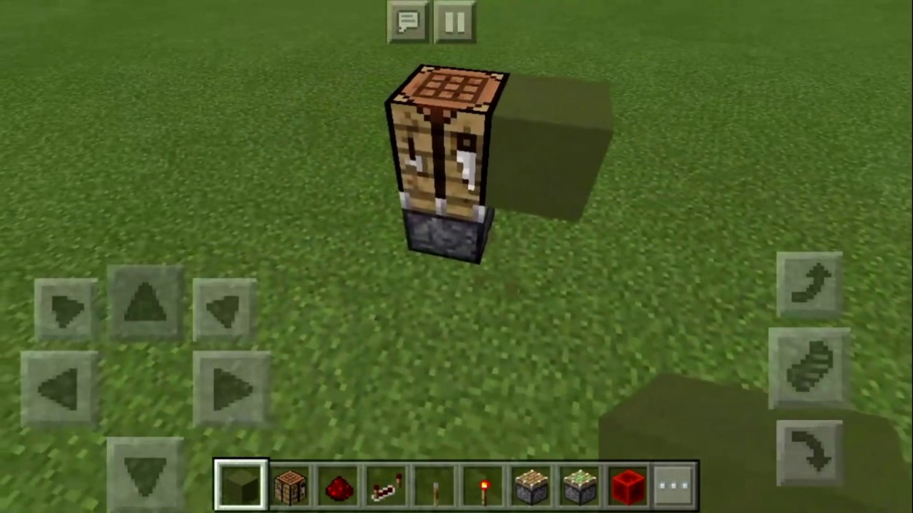 How To Make Hidden Crafting Table In Mcpe Youtube