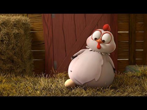 Мультфильм робот курица