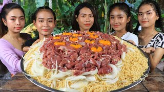 Wow cooking beef stir-fry with noodle recipe in my family