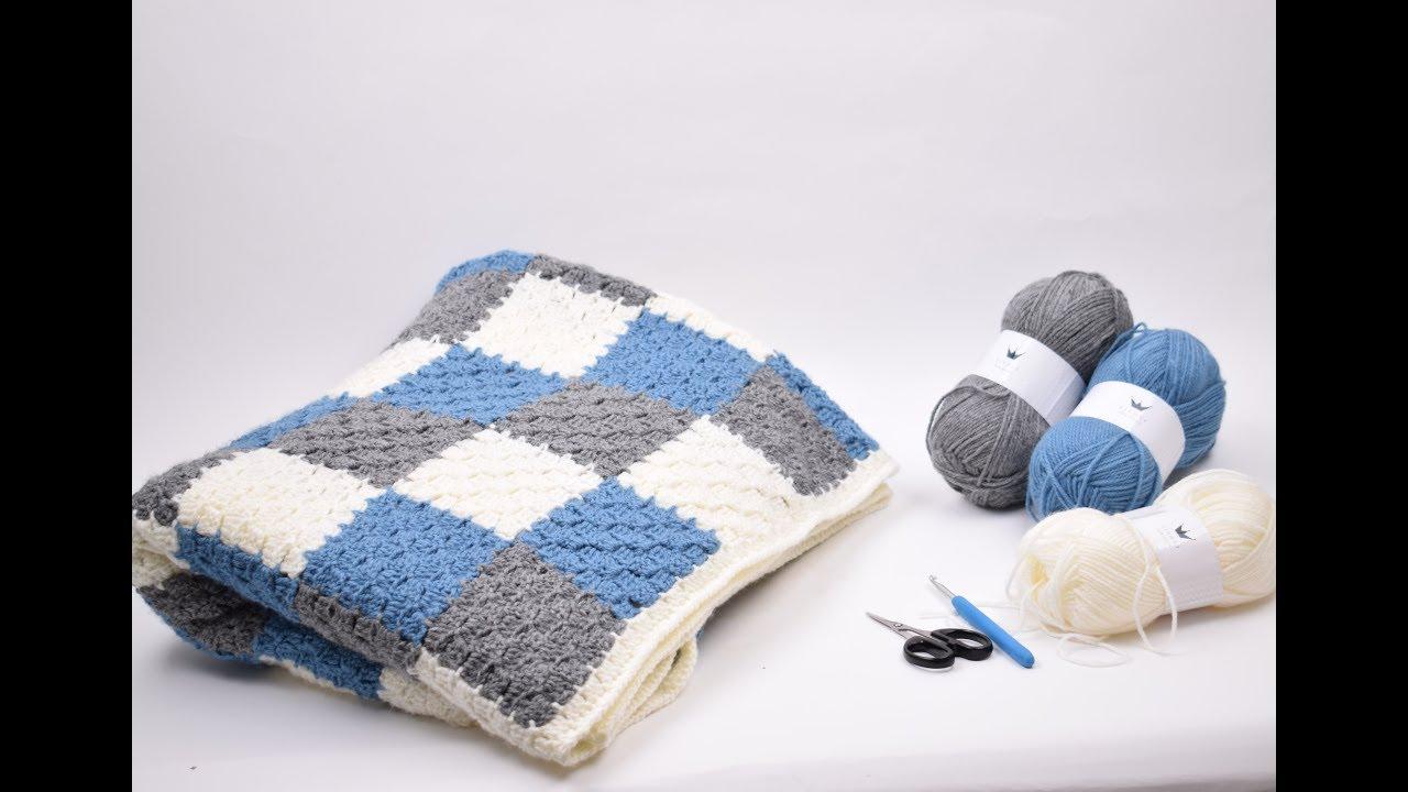 tunesisk hækling tæppe opskrift
