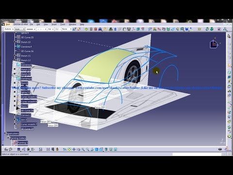 catia-v5-powerful-tricks-collection-#114 shape-design-workbench freestyle-3d-curve