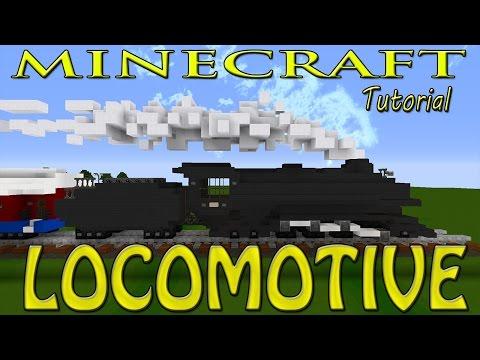 Minecraft: Steam Locomotive Train Tutorial (Polar Express)