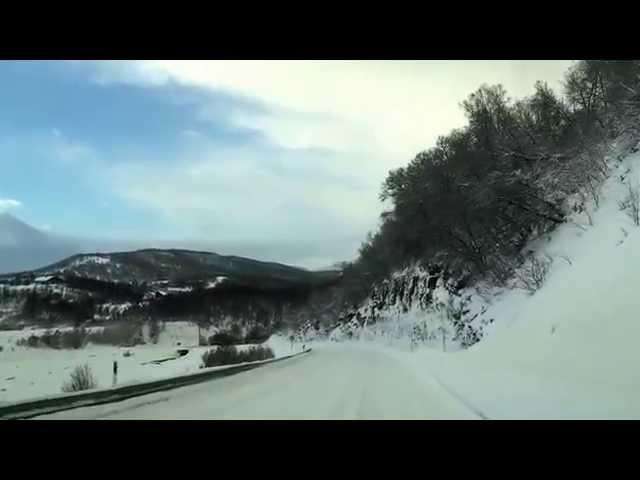 Nordkapp Vintertur 2015 - Video 29 - kørebilleder i Nordnorge