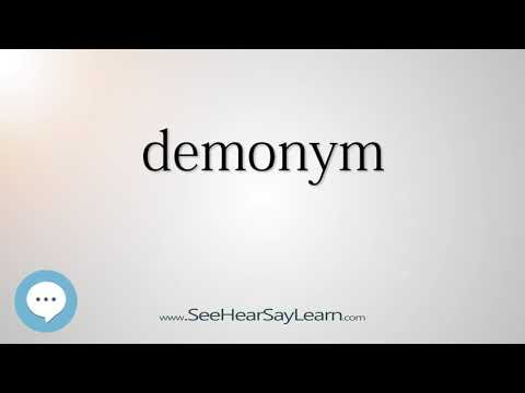 demonym - Smart & Obscure English Words Defined 🗣🔊