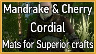 The Witcher 3: Wild Hunt - Mandrake & Cherry Cordial (Superior craft materials)