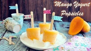Mango Yogurt Popsicles (3 ingredients)