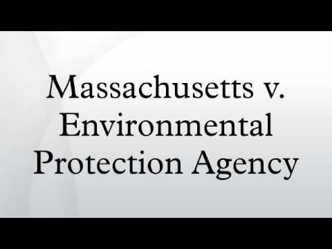 Massachusetts v. Environmental Protection Agency
