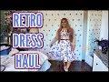 Retro Dress Haul & Giveaway || Grace Karin
