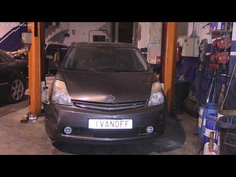 Ремонт Toyota Prius замена переднего крыла и бампера
