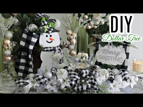 "🎄DIY DOLLAR TREE CHRISTMAS DECOR CRAFTS🎄CENTERPIECE/STOCKING/SIGN "" I LOVE CHRISTMAS"" Ep 9"