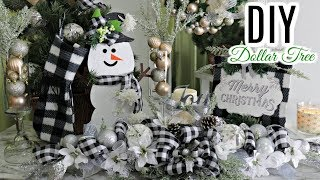 🎄DIY DOLLAR TREE CHRISTMAS DECOR CRAFTS🎄CENTERPIECE/STOCKING/SIGN