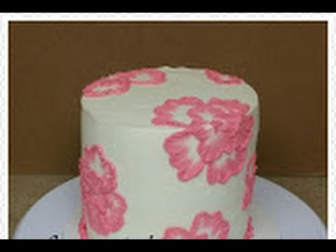 Buttercream Brush Embroidery Cake Decorating