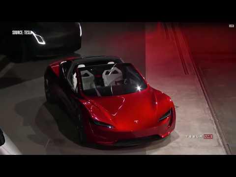 Tesla Roadster Insane and Semi truck