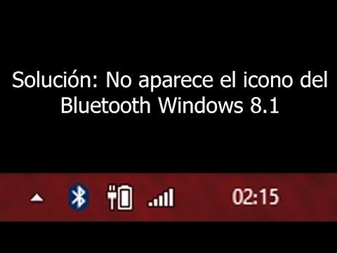 No aparece el icono de Bluetooth en barra...