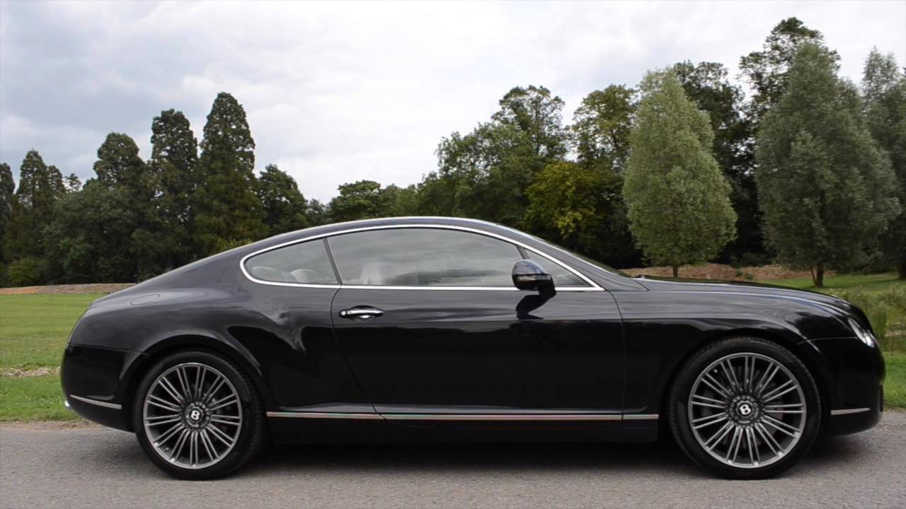 Bentley continental gt speed black youtube vanachro Image collections