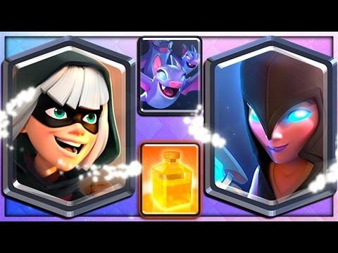 BANDIT, NIGHT WITCH, BATS & HEAL - 4 NEW CLASH ROYALE CARDS!