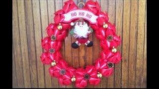 DIY Christmas Wreath Using Plastic Bottles