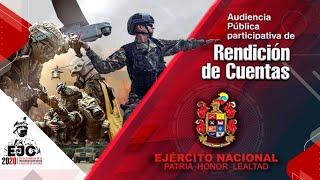 Audiencia Pública Participativa de Rendición de Cuentas del Ejército Nacional - Segundo semestre 201