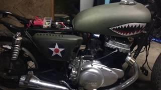 yamaha tx750 caf racer brat build