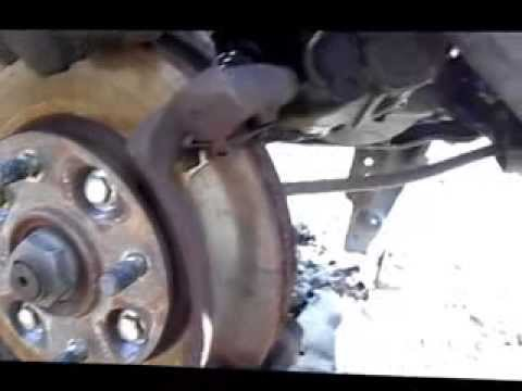 how to replace front brake pads 1992 honda accord youtube. Black Bedroom Furniture Sets. Home Design Ideas