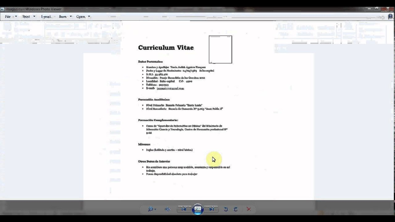 how to make cv or curriculum vitae