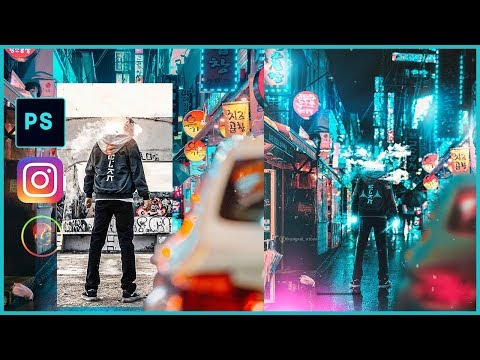 CYBERPUNK CLOUD GUY@KRAMPAH WILSON PHOTOSHOP TUTORIAL thumbnail