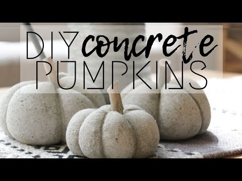 How to Make Concrete Pumpkins for Only $1!!