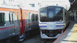 甲種輸送DE10 1666+しなの鉄道SR1系S201+S202!JR逗子駅から、横須賀線普通成田空港行きE217系1218SY8+Y114と横須賀線普通久里浜行きE217系1149SY1が発車!