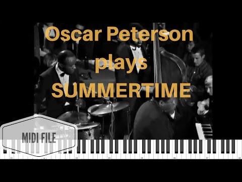 Oscar Peterson plays Summertime | Transcription + Midi File + Tutorial