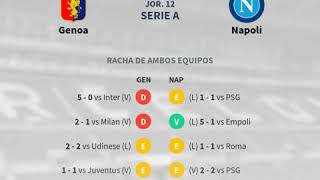 Previa Genoa vs Napoli - Jornada 12 - Serie A 2018 - Pronósticos y horarios