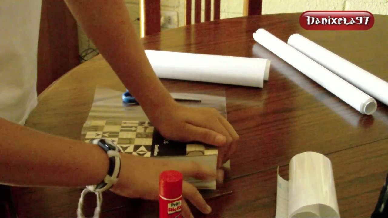 Como forrar cuadernos con papel adhesivo danixela97 youtube - Como forrar muebles con tela ...