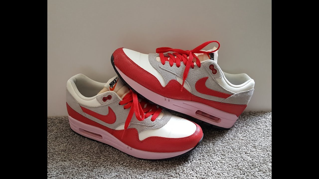 really cheap website for discount buy cheap unboxing unpacking WMNS NIKE Air Max 1 VNTG code 555284 103 SAIL / HYPR  RD-STRT GRY-ICD GRMN