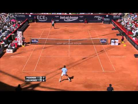[HD]Roger Federer vs. Federico Delbonis Highlights - 2013 German Tennis Championships (Hamburg SF)