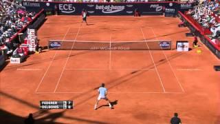 [HD]Roger Federer vs. Federico Delbonis Highlights - 2013 German Tennis Championships (Hamburg SF)