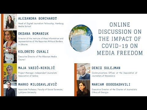 Online discussion on the impact of COVID-19 on media freedom