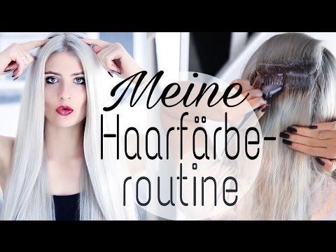 Ansatz selbst färben│Haare blondieren und abmattieren│Meine HAARFÄRBEROUTINE│UnPeuDeMoi