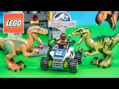 LEGO Blocks Jurassic World Raptor Escape Dinosaur Toys Video Unboxing