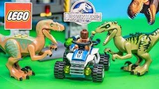 LEGO Blocks Jurassic World Raptor Escape Dinosaur Toys Video Unboxing