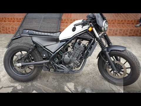 Install Honda Rebel CMX 300  500 MotoZaaa Custom Scrambler Seat Kit Motorcycle