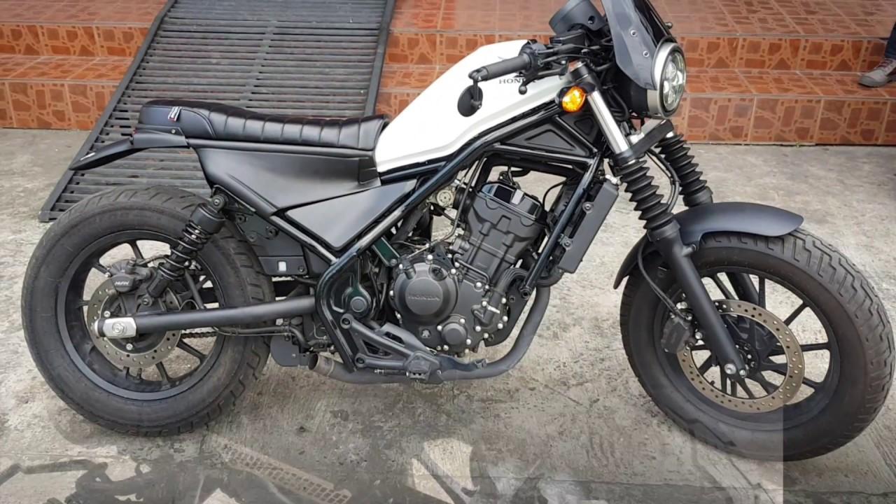 install honda rebel cmx 300 500 motozaaa custom scrambler seat kit motorcycle youtube. Black Bedroom Furniture Sets. Home Design Ideas