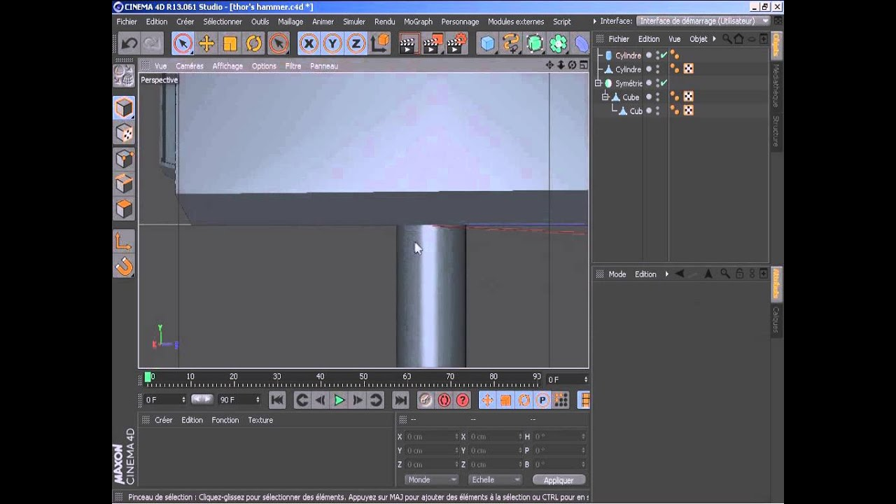 thor s hammer cinema4d concours quality design youtube