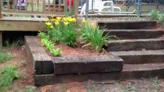 How To Build Steps Out Of Railroad Tie Completed